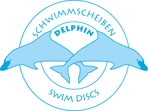 Logo Delphin discos de natación - ayudas flotantes para niños y adultos